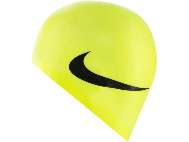 Nike Swim Big Swoosh Printed Bonnet de bain en silicone, volt